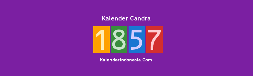 Banner Candra 1857