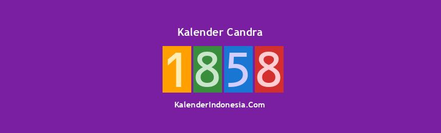 Banner Candra 1858
