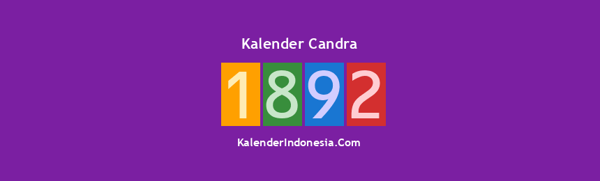 Banner Candra 1892