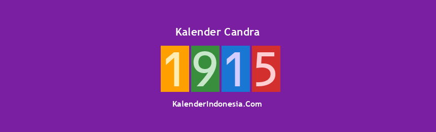 Banner Candra 1915