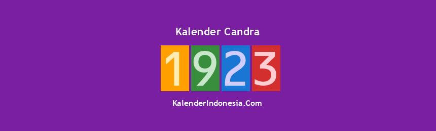 Banner Candra 1923