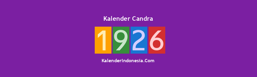 Banner Candra 1926
