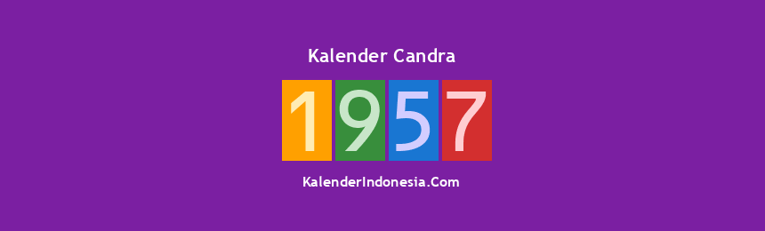 Banner Candra 1957