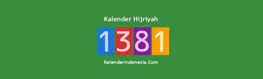 Banner Hijriyah 1381