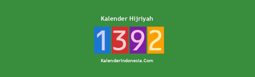 Banner Hijriyah 1392