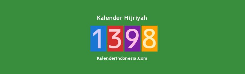 Banner Hijriyah 1398