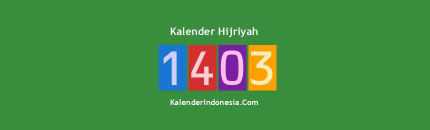 Banner Hijriyah 1403