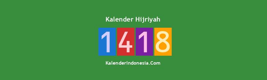 Banner Hijriyah 1418
