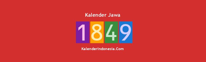 Banner Jawa 1849