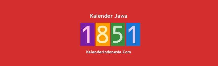 Banner Jawa 1851