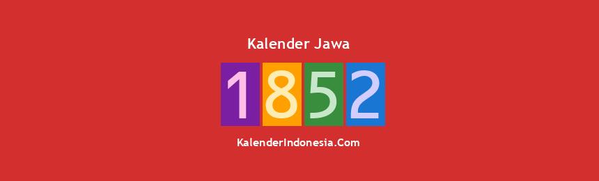 Banner Jawa 1852
