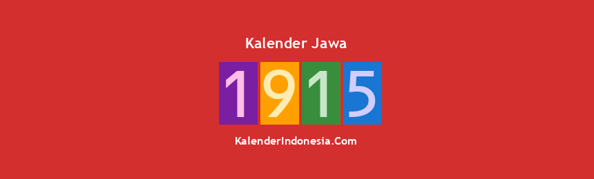 Banner Jawa 1915