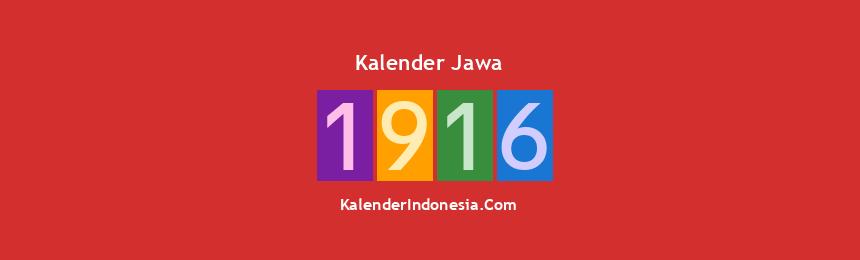 Banner Jawa 1916