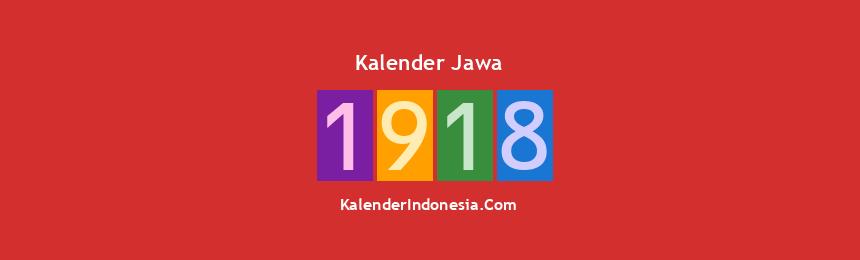 Banner Jawa 1918