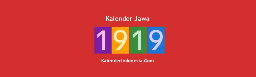 Banner Jawa 1919