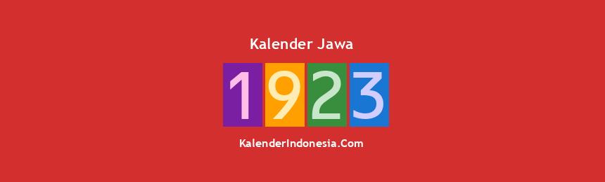 Banner Jawa 1923