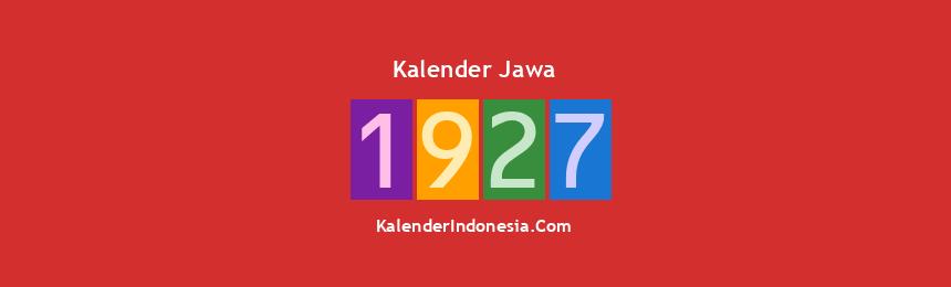 Banner Jawa 1927
