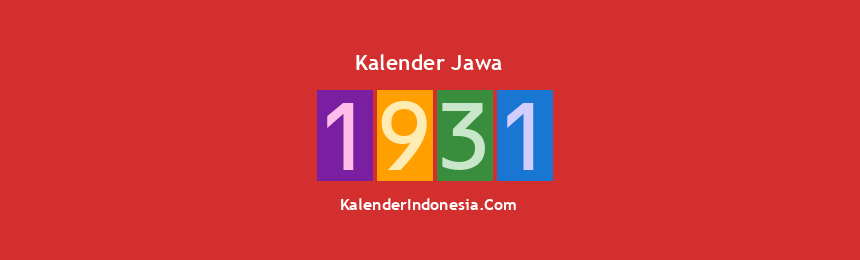 Banner Jawa 1931
