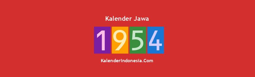 Banner Jawa 1954