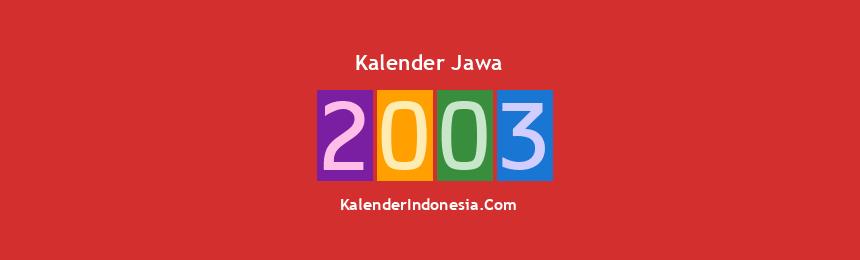 Banner Jawa 2003