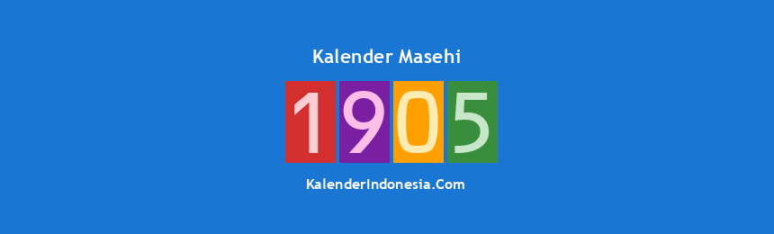Banner Masehi 1905