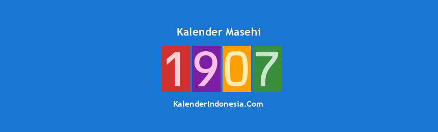 Banner Masehi 1907