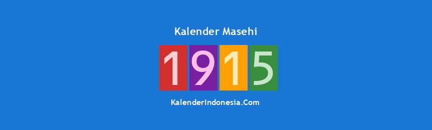 Banner Masehi 1915