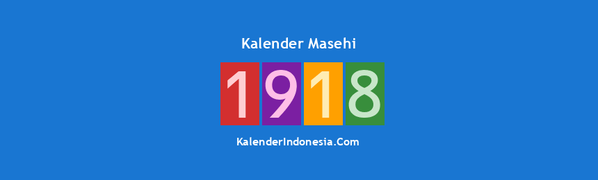 Banner Masehi 1918