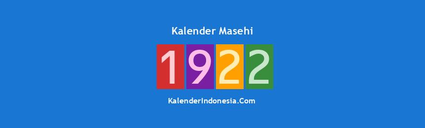Banner Masehi 1922
