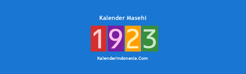 Banner Masehi 1923