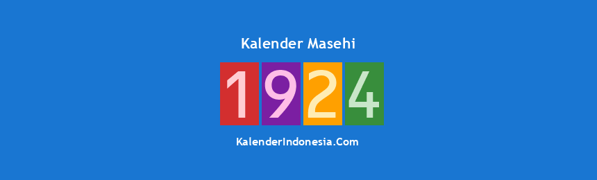 Banner Masehi 1924