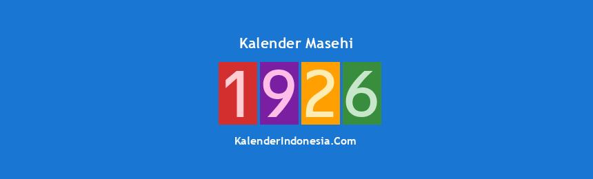 Banner Masehi 1926