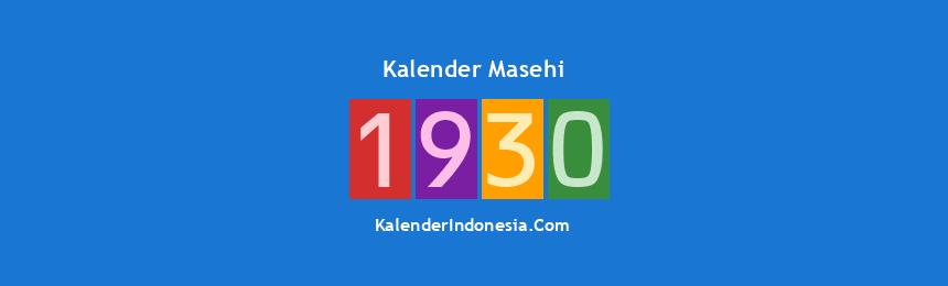 Banner Masehi 1930