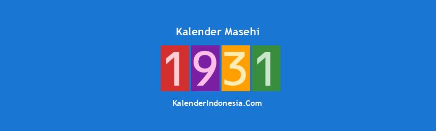 Banner Masehi 1931