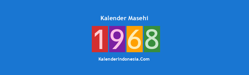 Banner Masehi 1968
