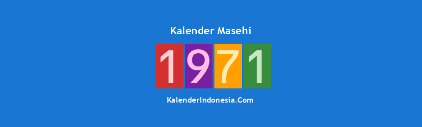 Banner Masehi 1971