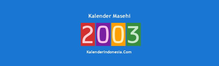 Banner Masehi 2003