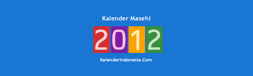 Banner Masehi 2012