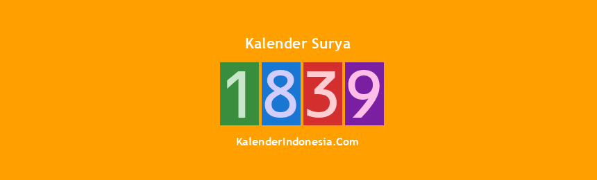 Banner Surya 1839