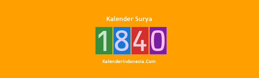 Banner Surya 1840