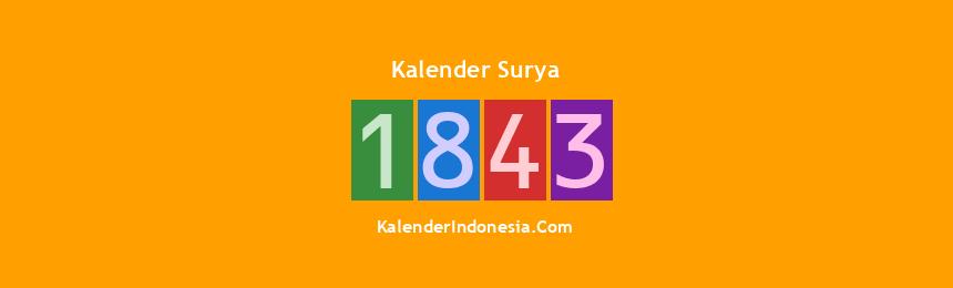 Banner Surya 1843
