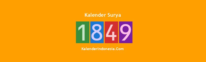 Banner Surya 1849