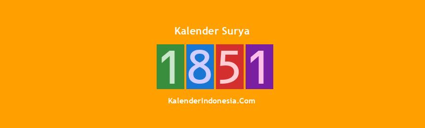 Banner Surya 1851