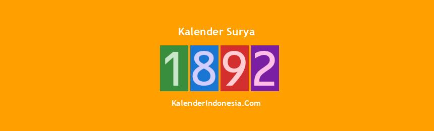 Banner Surya 1892