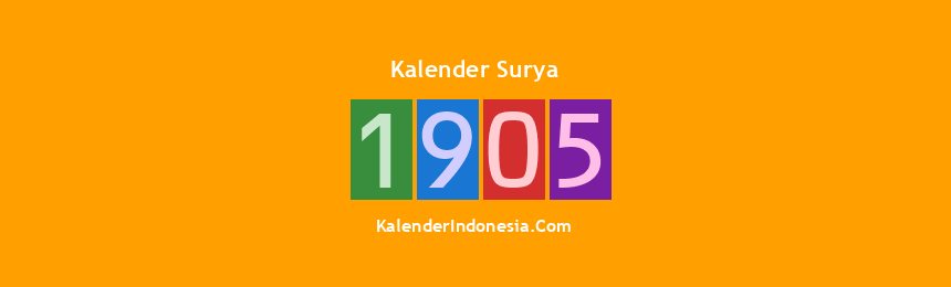 Banner Surya 1905
