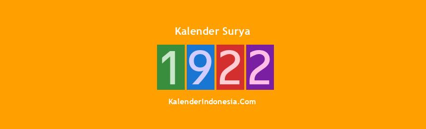 Banner Surya 1922