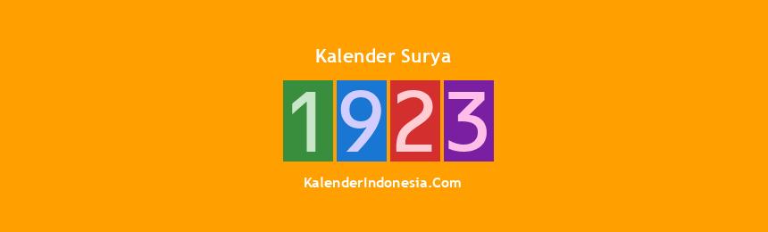 Banner Surya 1923