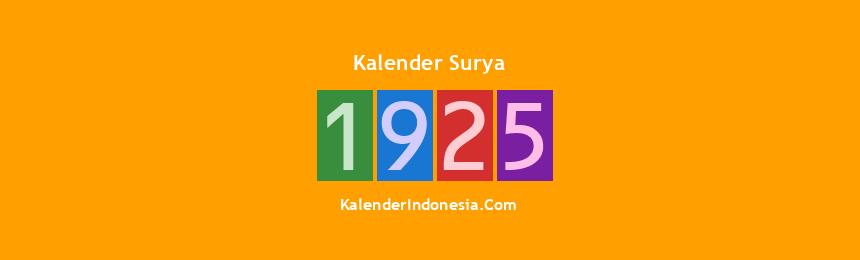 Banner Surya 1925