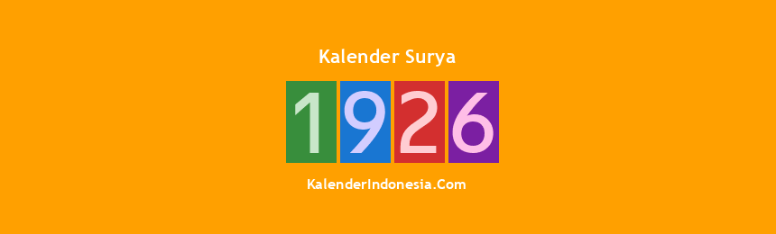 Banner Surya 1926