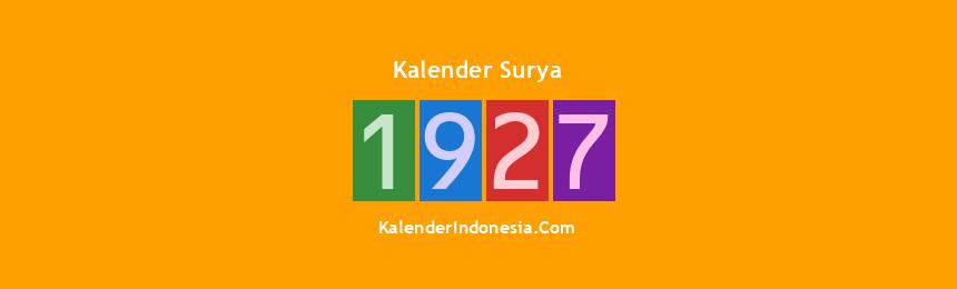 Banner Surya 1927